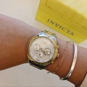 Invicta Angel Watch stainless steel and gold